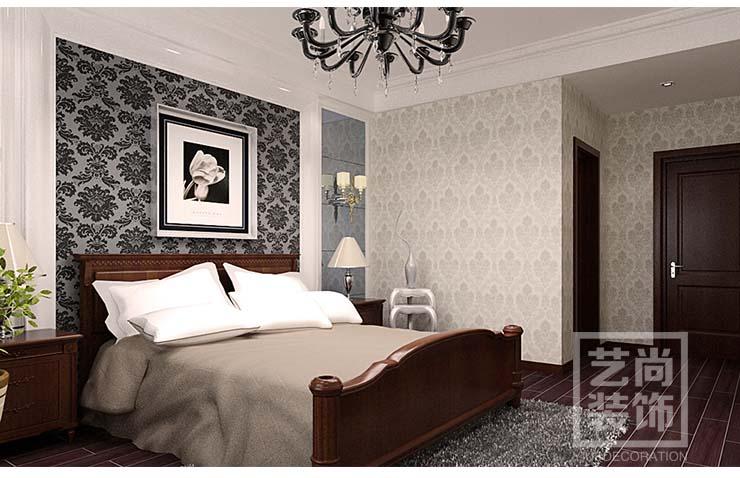 中原工学院4室2厅套餐样板间装修,卧室装修效果图