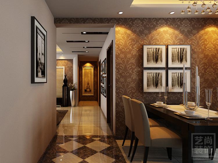 锦艺国际华都3期123平方入户餐厅装修效果图