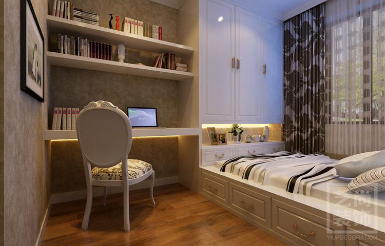 盛潤錦繡城三室兩廳116平方裝修設計方案,書房榻榻米裝修設計效果圖