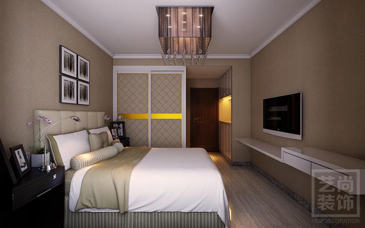 锦艺国际华都123平方三室两厅装修案例 锦艺国际华都现代简约案例装修