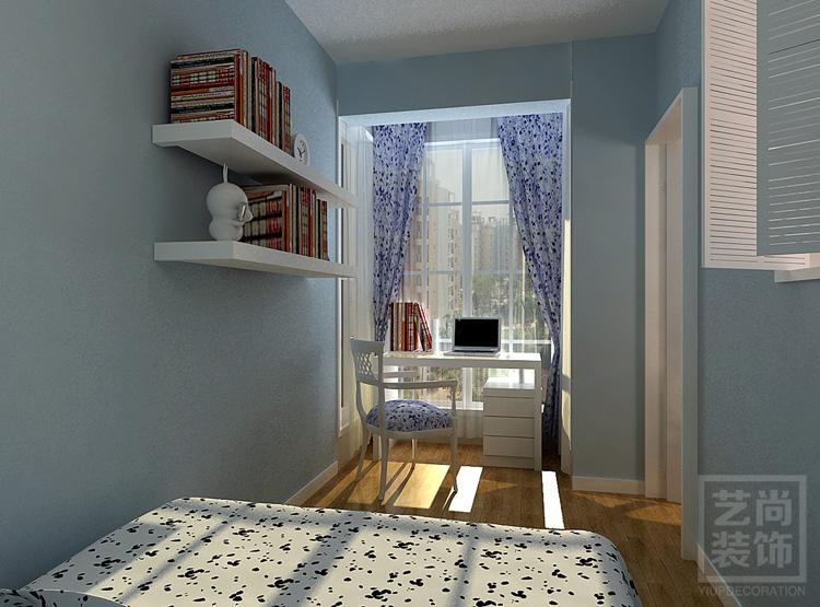 90平方三室两厅现代简约样板间装修案例