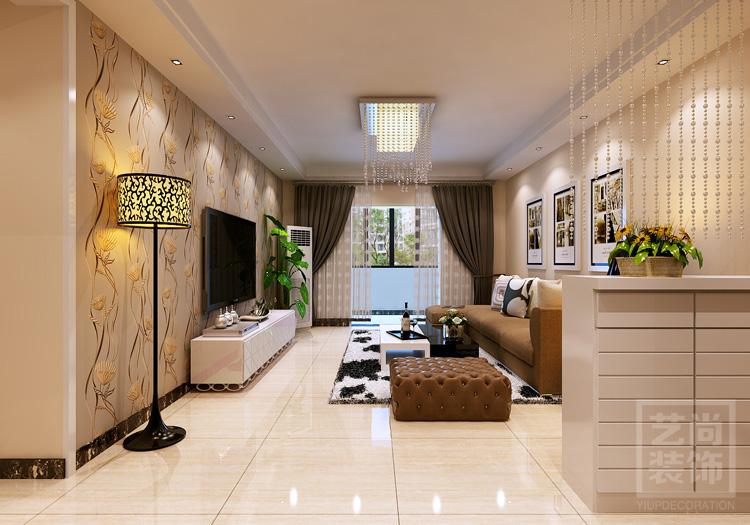 鑫苑鑫城120平方3室2厅现代简约装修方案效果图