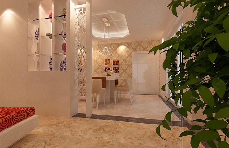 中央特区3室2厅装修方案效果图,进门的视野完整不受隔阂,天际两盏透亮的水晶主灯,成为一进门时的华丽开场,并运用立面、天花板的设计手法,意象式表现餐厅、客厅的分野。 进门的视野完整不受隔阂,天际两盏透亮的水晶主灯,成为一进门时的华丽开场,并运用立面、天花板的设计手法,意象式表现餐厅、客厅的分野。
