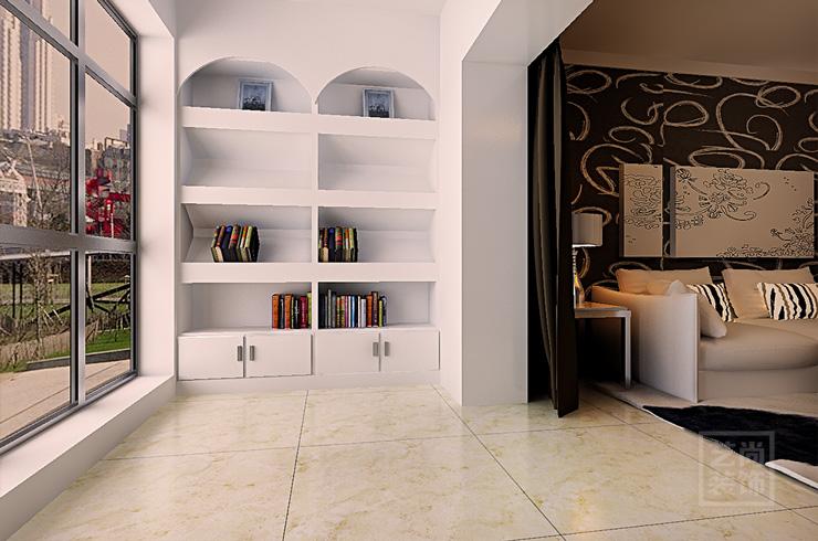謙祥萬和城89平方兩室兩廳現代簡約樣板間裝修案例