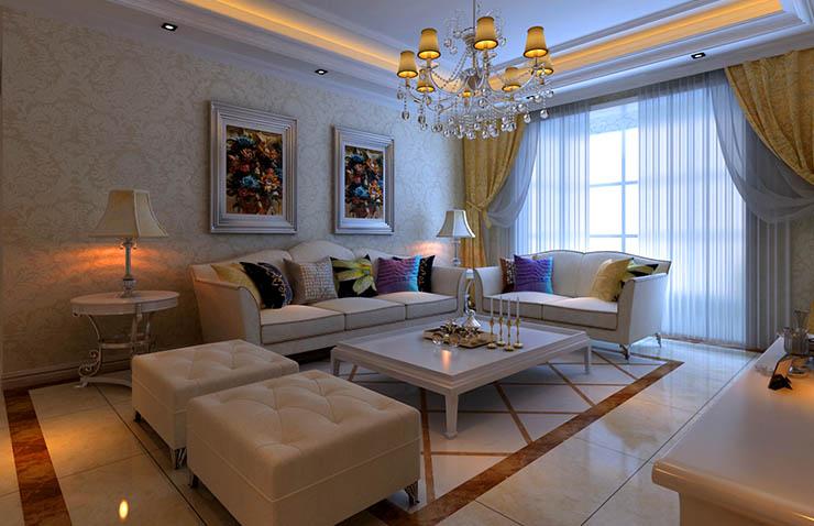 平方样板间装修效果图             设计理念:欧式的居室有的不只是豪