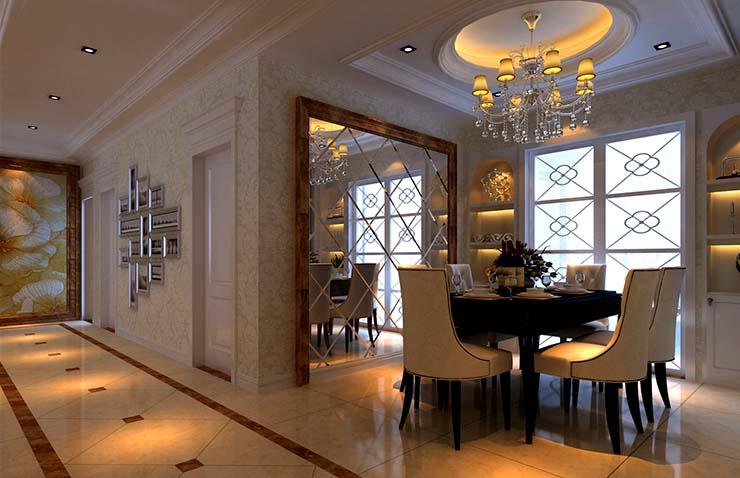 祝福红城三室两厅122平方样板间装修效果图             设计理念