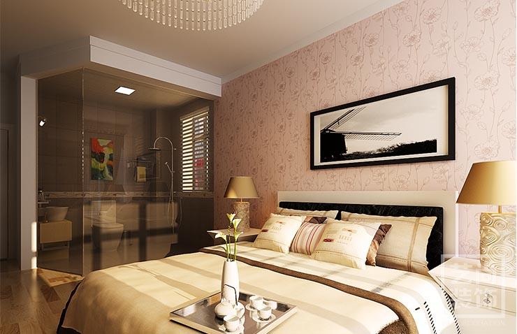 郑州河南工业大学家属院a3三室两厅装修效果图 -卧室装修样板间方案