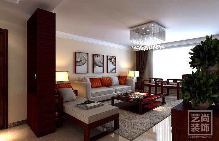西雅图a1户型三室两厅122平方新中式装修案例