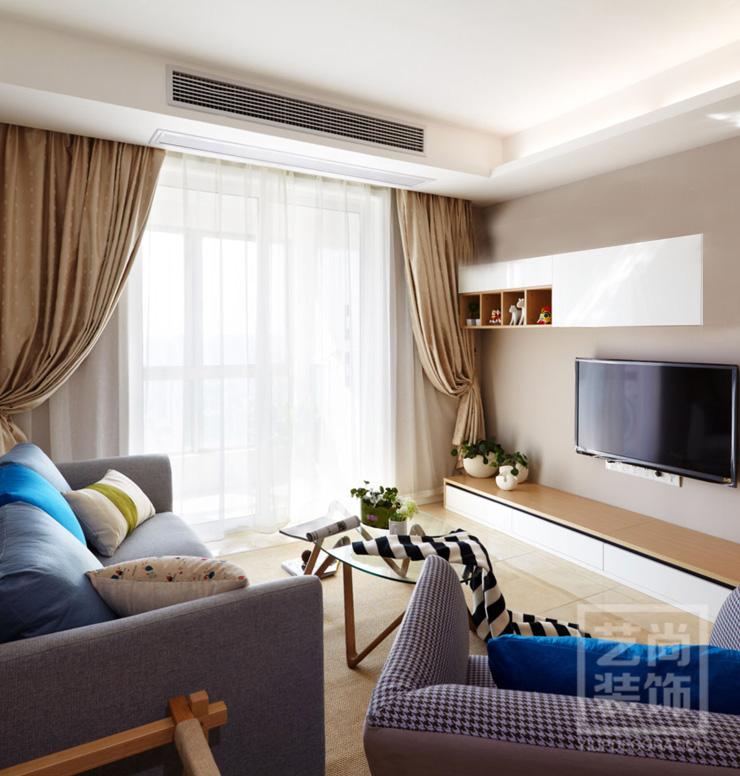 普罗旺世两室一厅78平方现代简约装修效果图