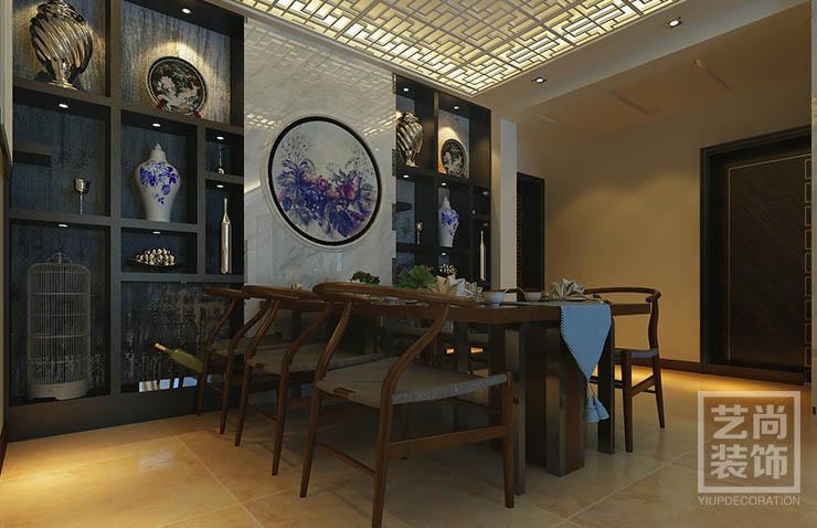 永威五月花城88平方三室两厅新中式装修效果图