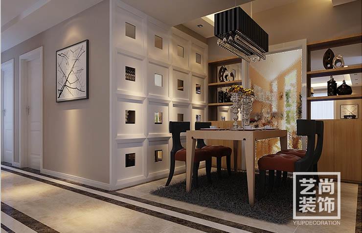 郑州正商华钻118平方三室两厅现代简约样板间装修案例
