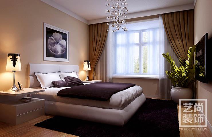 安和小区120平方3室2厅卧室装修效果图