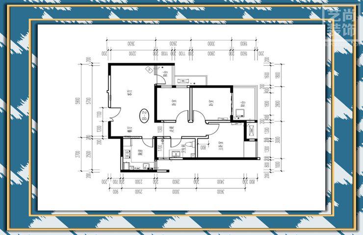 保利永威西溪花园88平方三室两厅一卫户型图