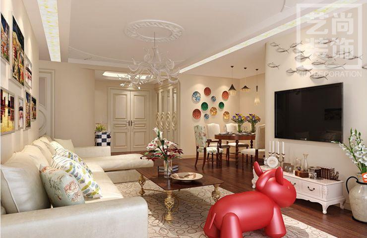 保利永威西溪花园88平方三室两厅一卫装修效果图