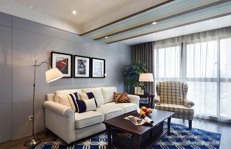 千鹿山89平方案例两室两厅一卫装修效果图