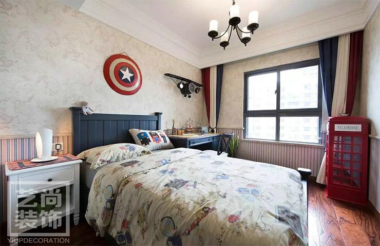 建业春天里三室两厅两卫样板间装修案例