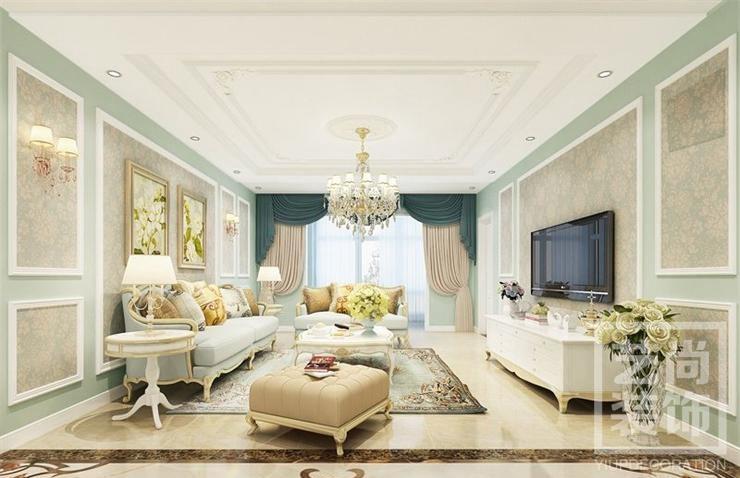 中海锦苑140平方三室两厅简欧装修效果图