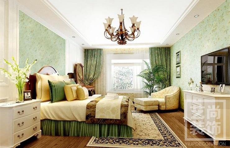 中海锦苑140平方简欧装修效果图-卧室装修效果图