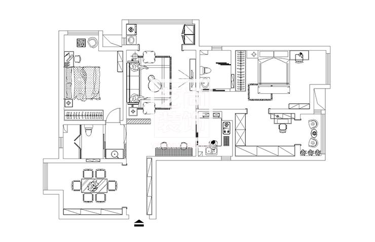 升龙天汇广场143平方三室两厅两卫户型图