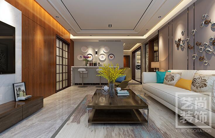 升龙天汇广场三室两厅两卫样板间装修案例