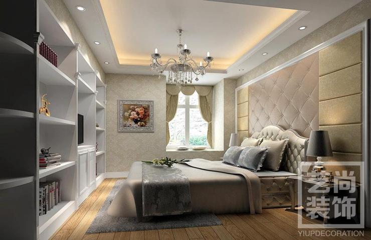 英地金台府邸165平方简欧样板间装修卧室效果图