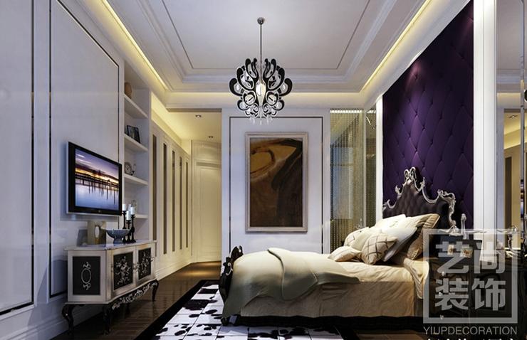 鄭州裝修東潤璽城126平方三室兩廳簡歐風格創意家居