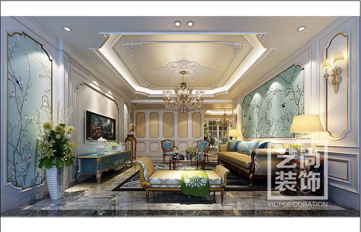 瀚宇天悦湾140平方三室两厅两卫装修效果图