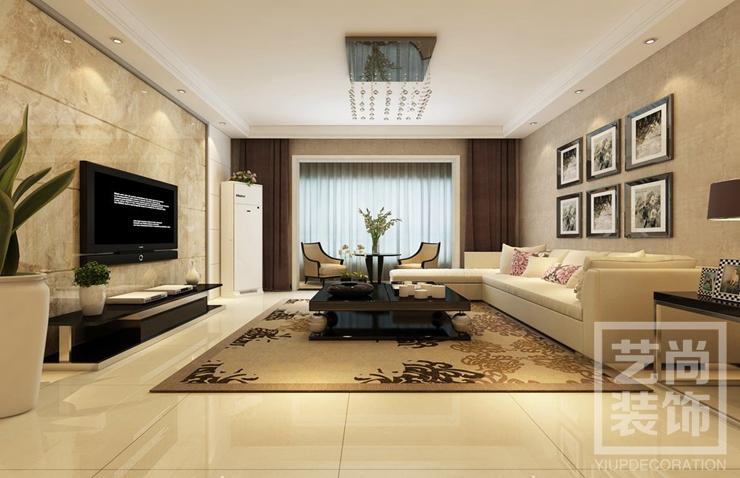正商金域世家115平方三室两厅一卫装修效果图