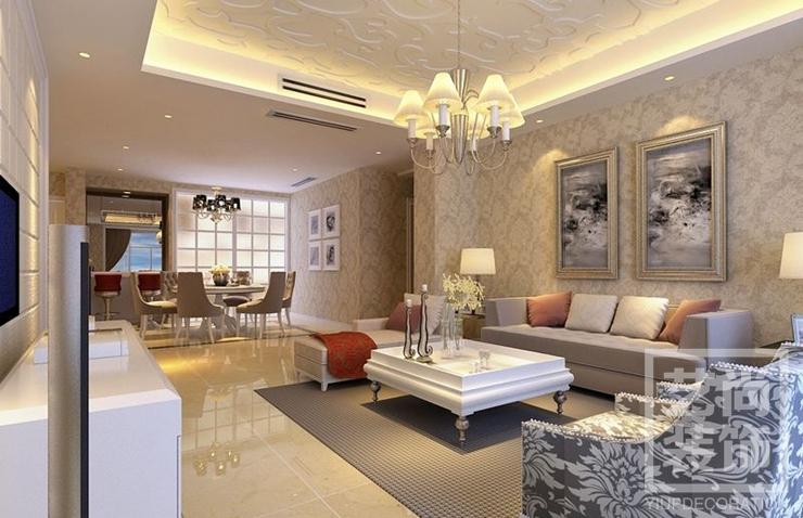 正商城三室兩廳裝修效果圖 120平方三室兩廳現代簡約樣板間裝修案例