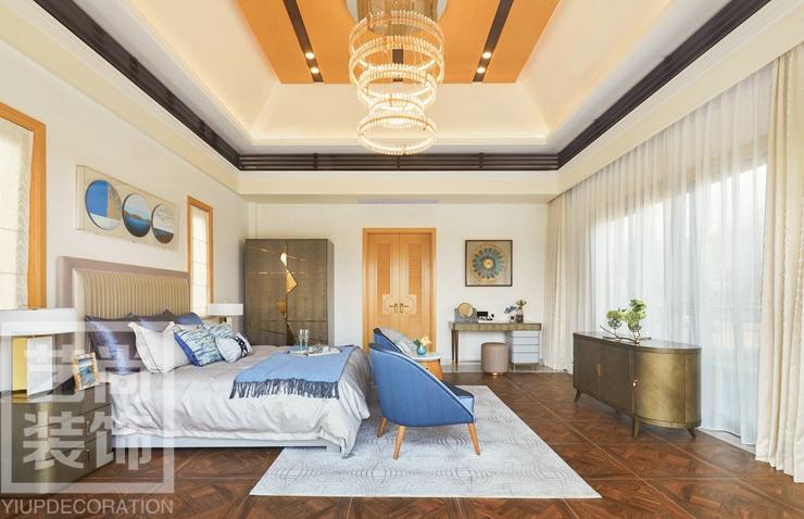 180平方四室兩廳現代簡約樣板間裝修案例