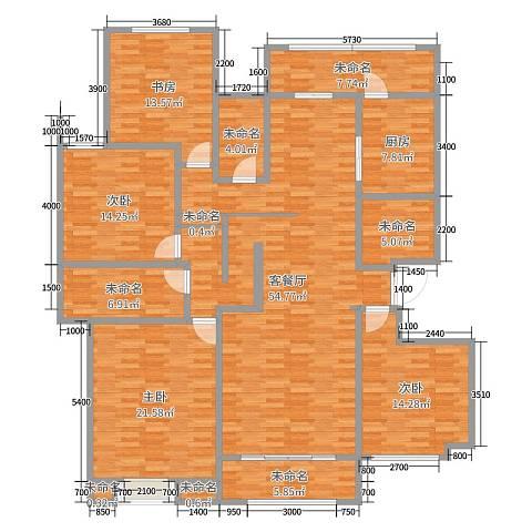 民航国际馨苑200平方四室两厅两卫户型图