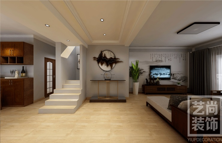 民航国际馨苑200平方四室两厅两卫装修效果图