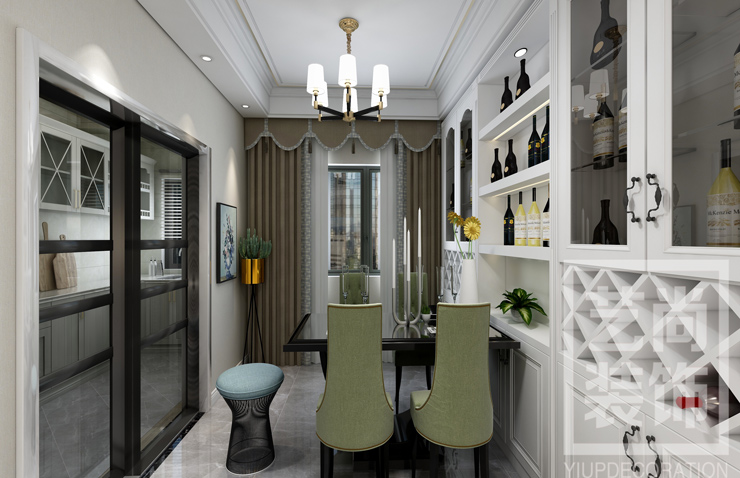 华瑞紫韵城四室两厅两卫样板间装修案例