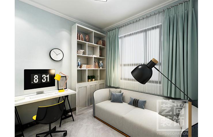 公园道1号三室两厅一卫样板间装修案例