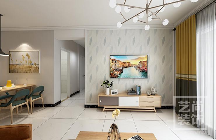金科城118平方三室两厅两卫装修效果图