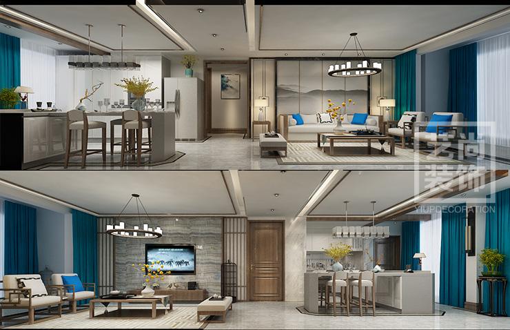 思念果岭国际社区120平方三室两厅两卫户型图