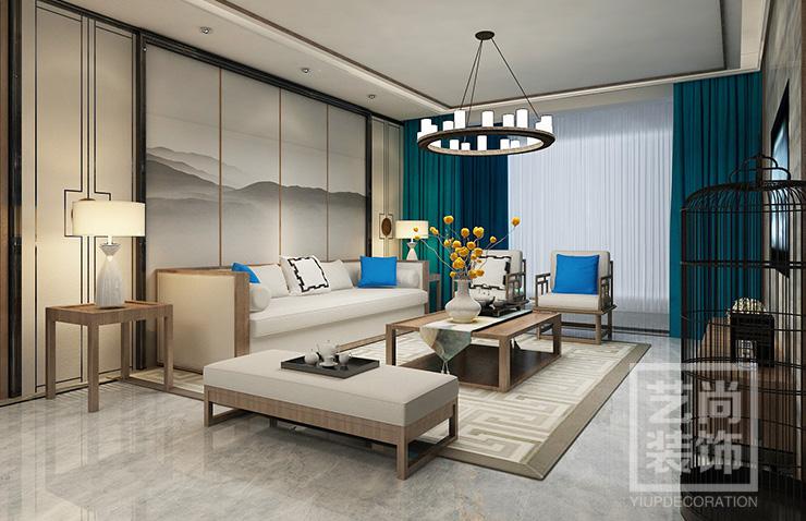 思念果岭国际社区120平方三室两厅两卫装修效果图