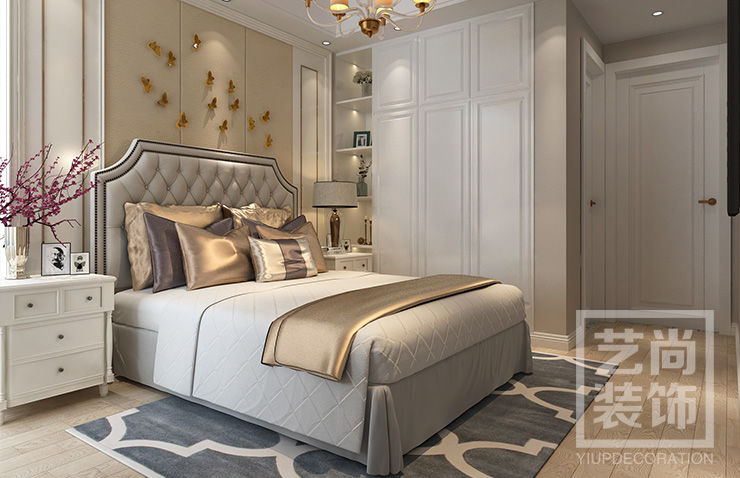 翰林国际城三室两厅两卫样板间装修案例