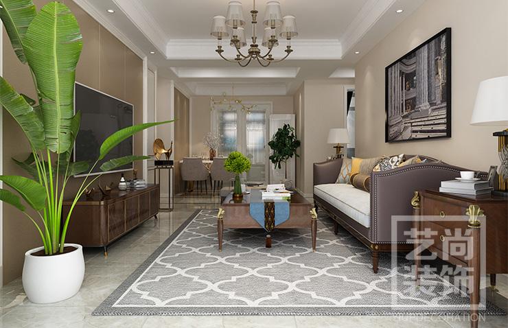 翰林国际城118平方三室两厅两卫装修效果图