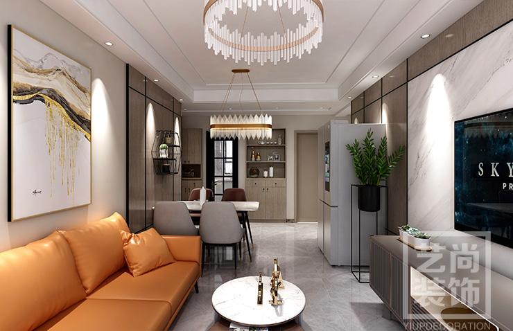汇泉西悦城108平方三室两厅两卫装修效果图