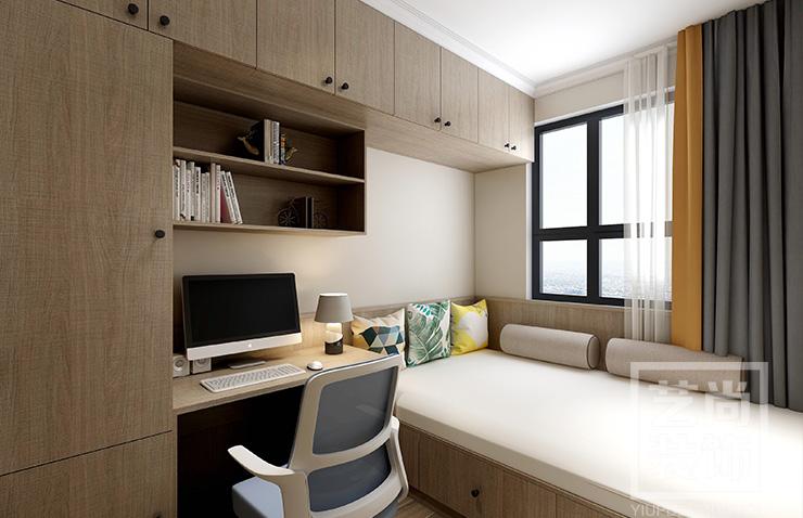 汇泉西悦城三室两厅两卫样板间装修案例