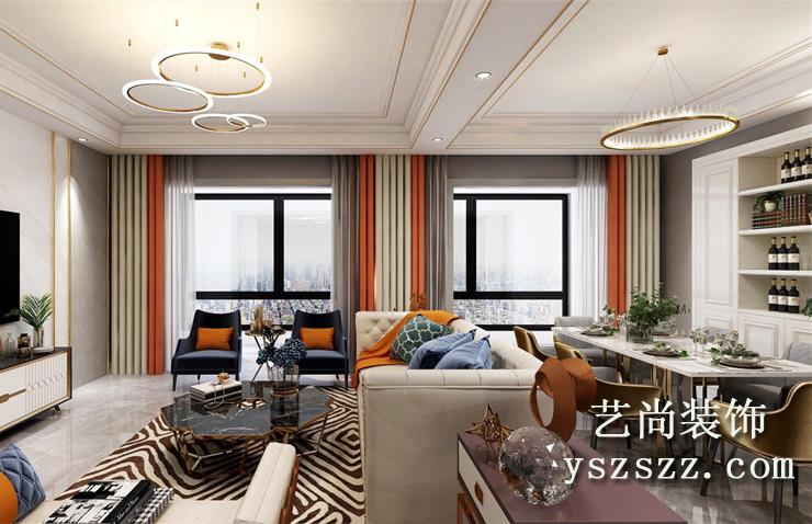 五建新街坊121平方三室两厅两卫装修效果图