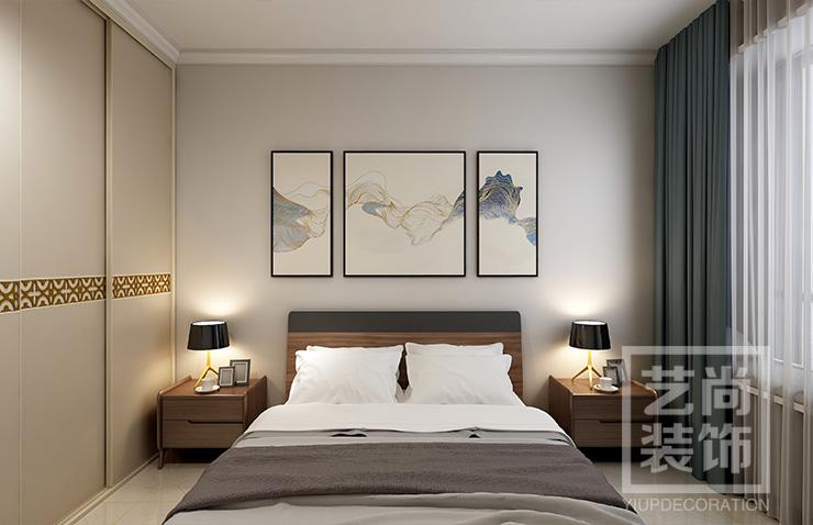 钱隆城三室两厅一卫样板间装修案例